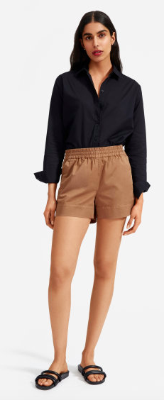 I love a short that isn't jean. If your work place allows, throw on a blazer with these and a camisole. via Everlane  $45