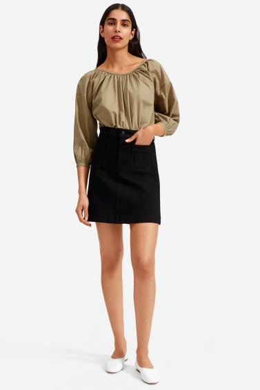I love a ruched blouse for the summer. via Everlane  $55