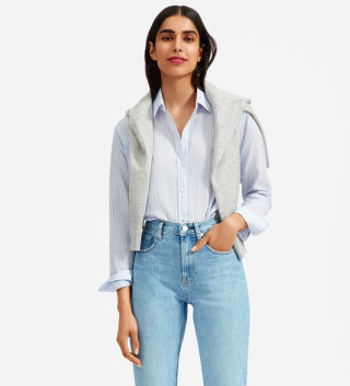 We all need the perfect button down in are wardrobe. I'll take all the colors please! via Everlane  $50