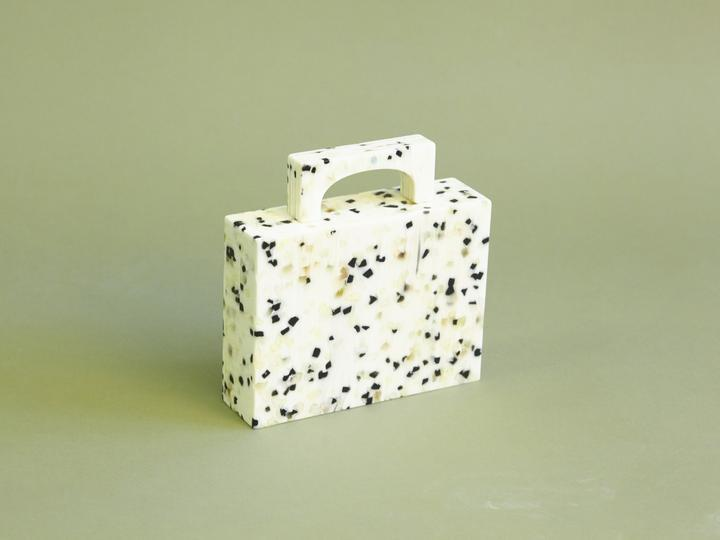 Alexa Bag in White Dalmation, $279