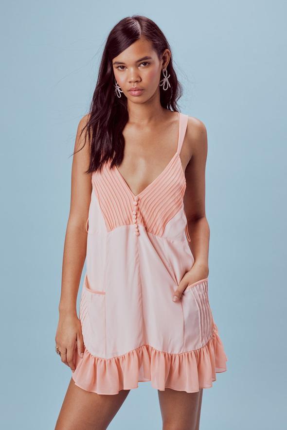 Louise Trapeze Mini Dress by Love & Lemons, $150