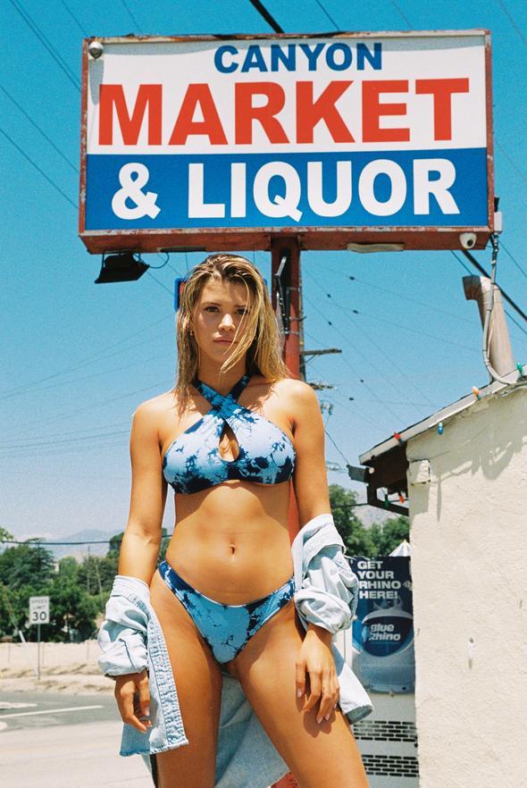 Blue Sunny Bikini Top, $90