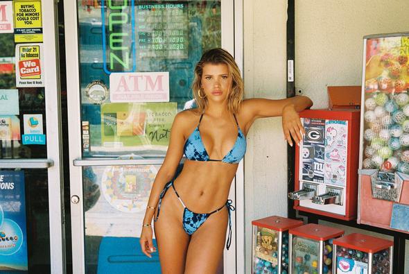 Blue Tasha Bikini Top, $85