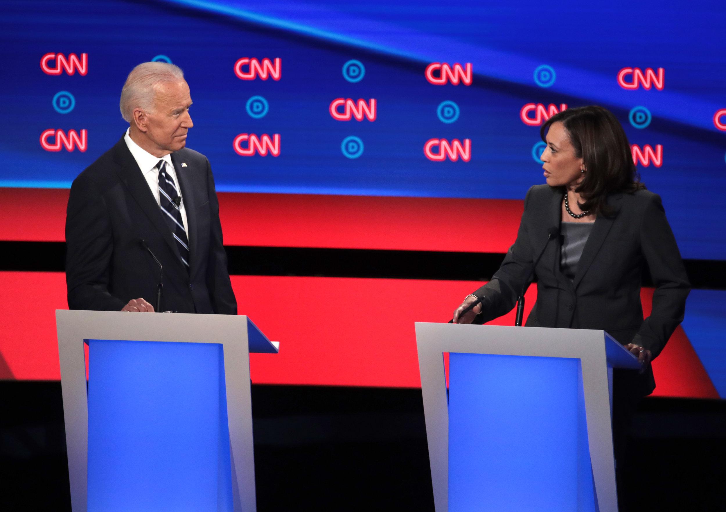 Biden and Harris 2019 Democratic Debates via  Time
