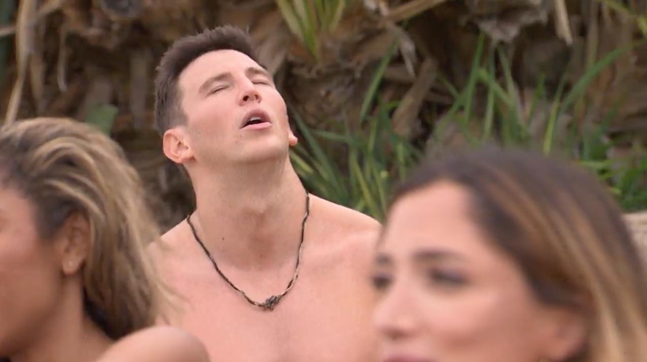 Blake as soon as he sees Kristina walk onto the beach. via  wordpress