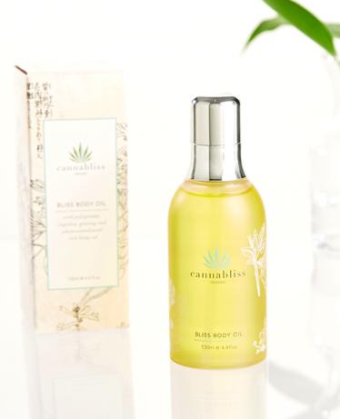 Organic Hemp Bliss Body Oil Skincare,  $60