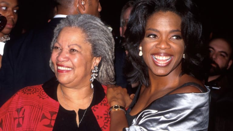 Toni Morrison with good friend, Oprah via  Biography