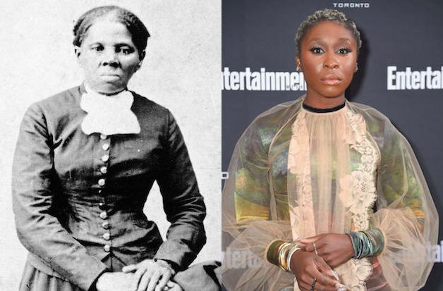 Left: Harriet Tubman, Right: Cynthia Erivo via  Color Lines