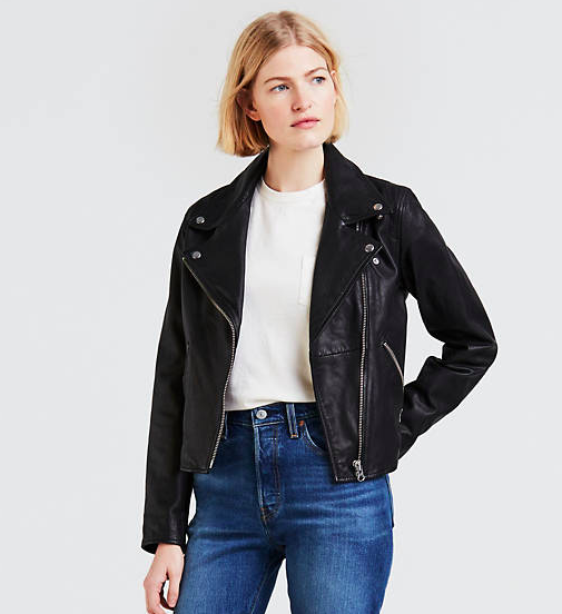 Leather Moto Jacket, $298