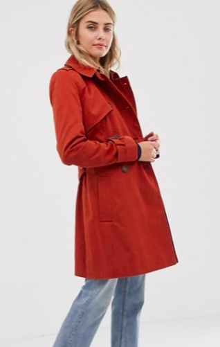 Asos Design Trench Coat, $47