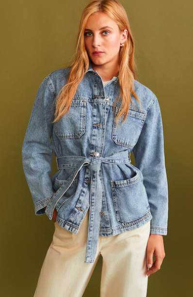 Washed Denim Jacket, $79