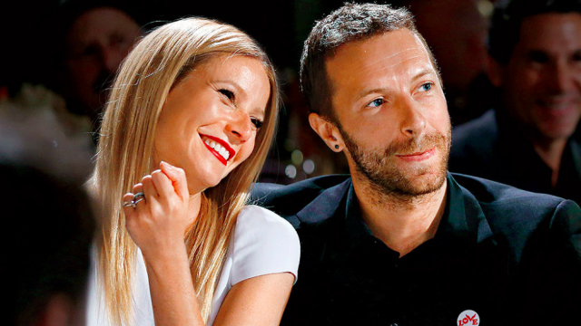 Gwyneth and Chris via  Her