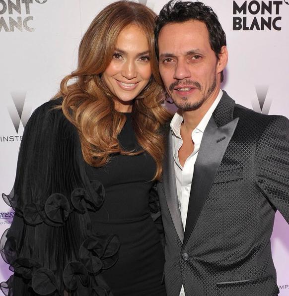 Jennifer Lopez and Marc Anthony via  People