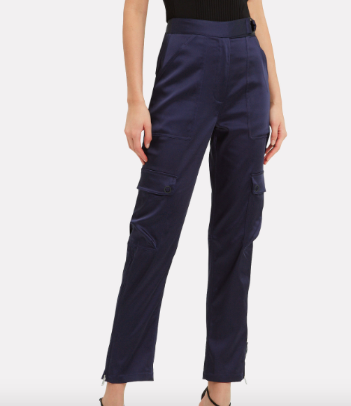 Jonathan Skimkhai Satin Utility Pants, $495
