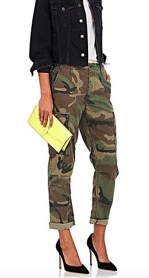 Camouflage Crop Cargo Pants, $250