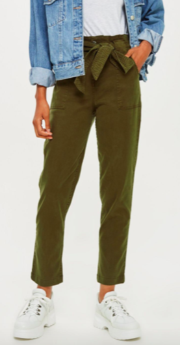 High Waist Utility Cargo Trousers, $24