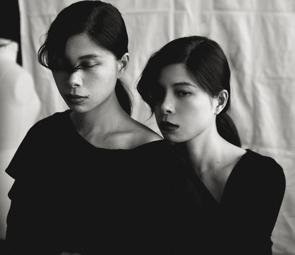 Founders of Xunruo, twins Chen Dan and Chen Ying via  Global Fashion Collective