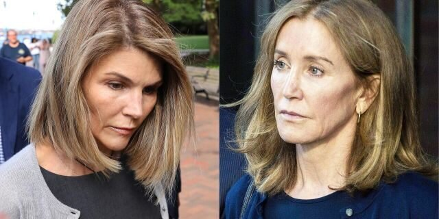 Lori Loughlin on left, Felicity Huffman on right. Via  Fox News