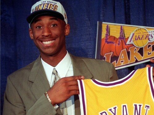 Bryant joins the Lakers early on in his career. Via  Business Insider.