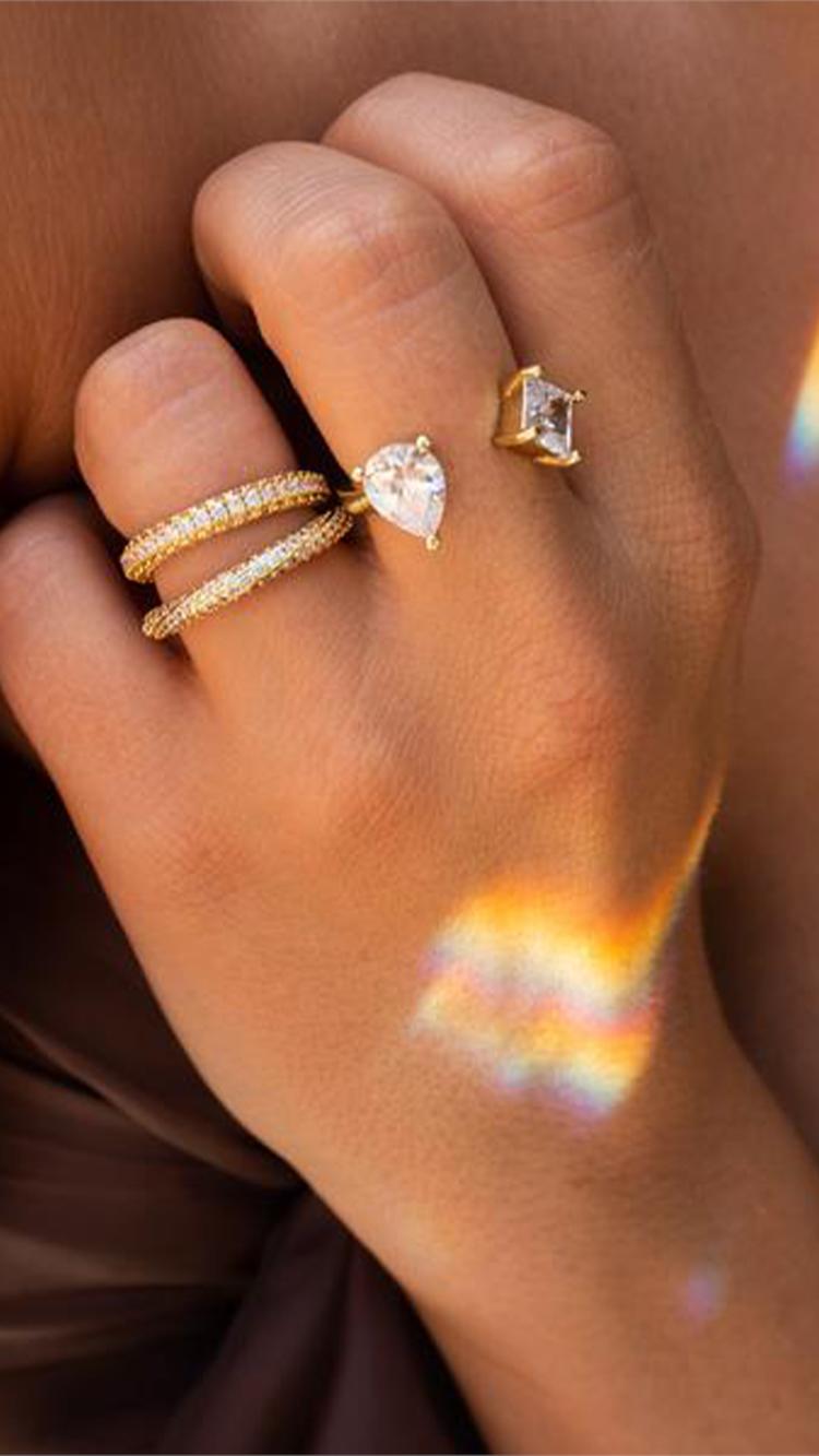 Bijou Statement Ring,  $45