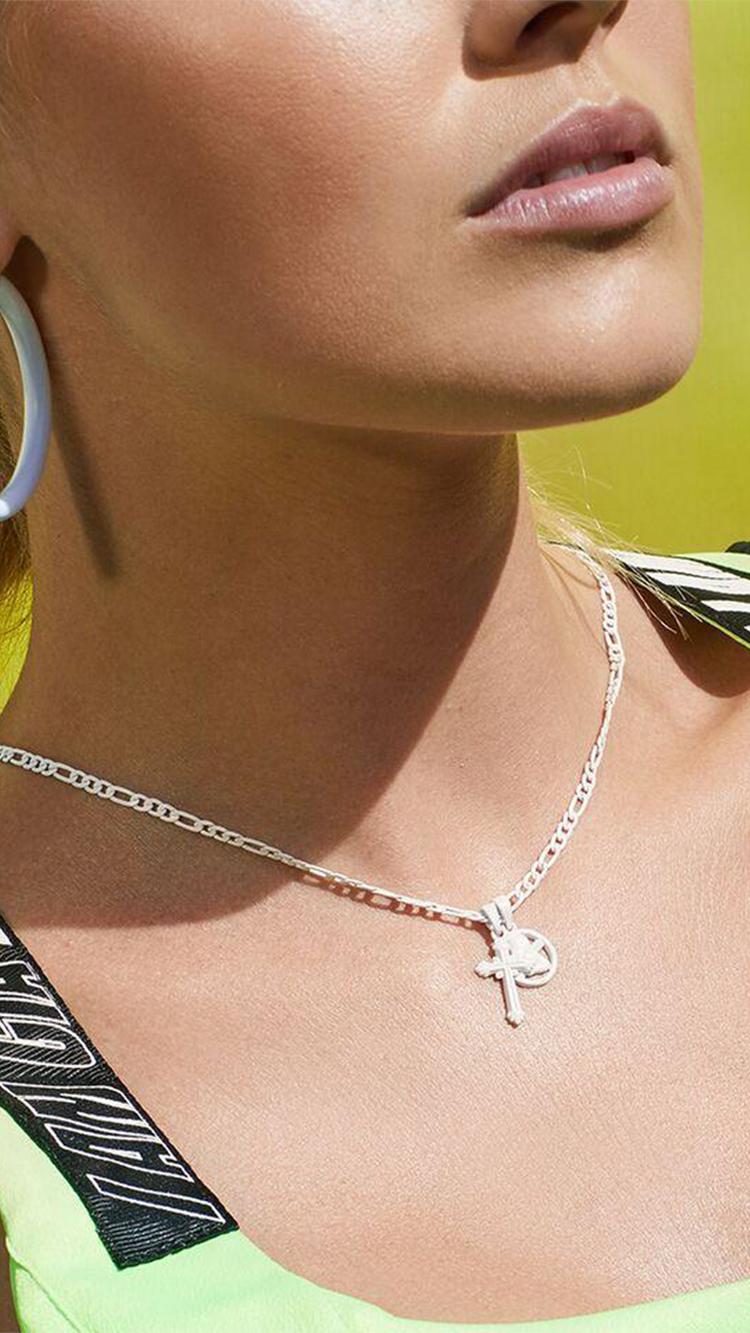 Rainbow Double Charm Necklace,  $75