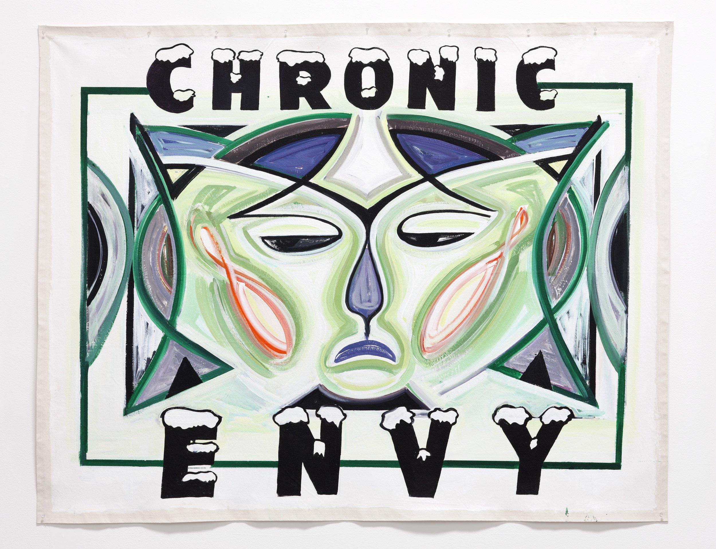 "Chronic Envy,  2011  Acrylic on canvas  72"" X 60"""