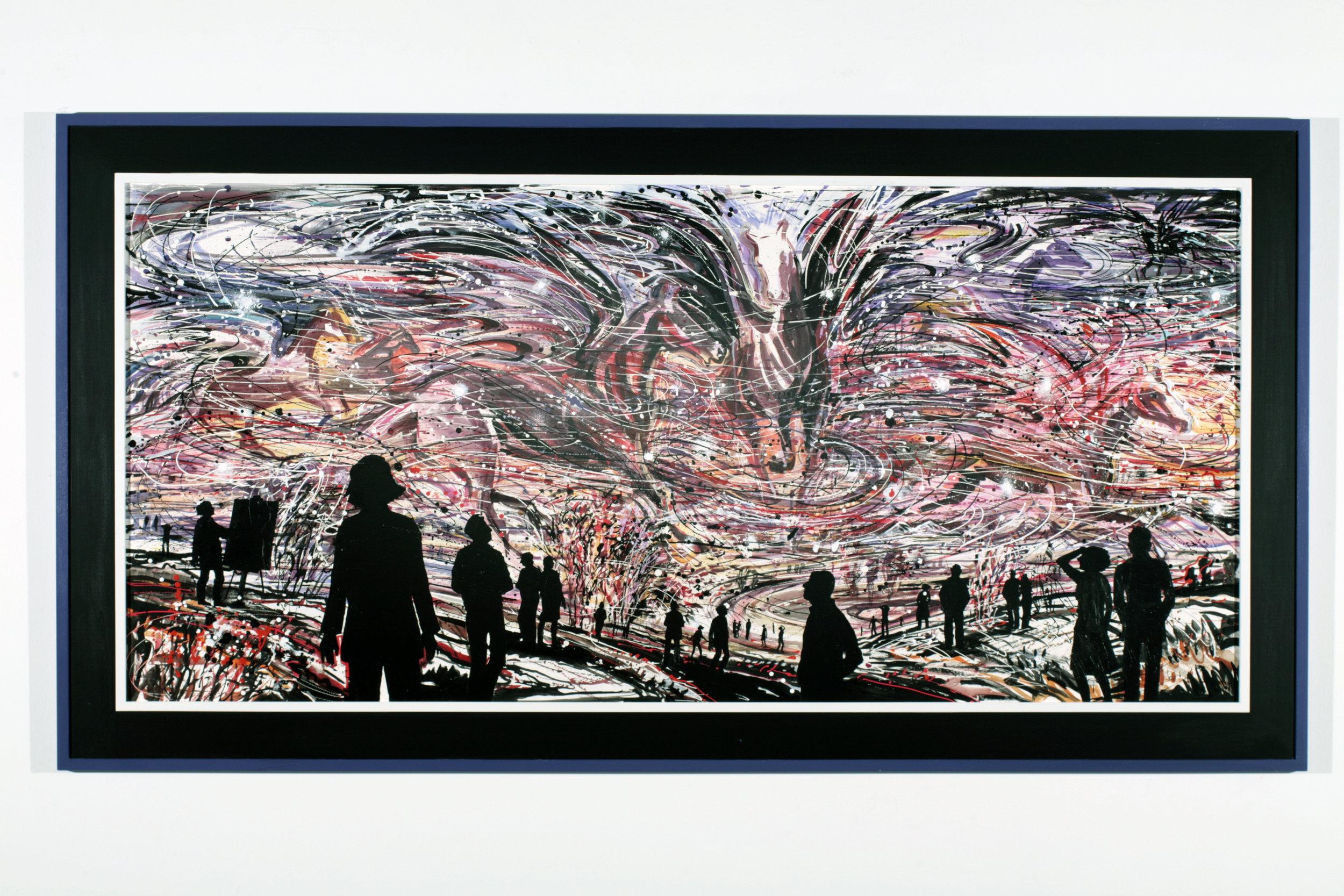 "Horsepower #1,  2006  Acrylic on Tycore, framed  58"" x 107"""