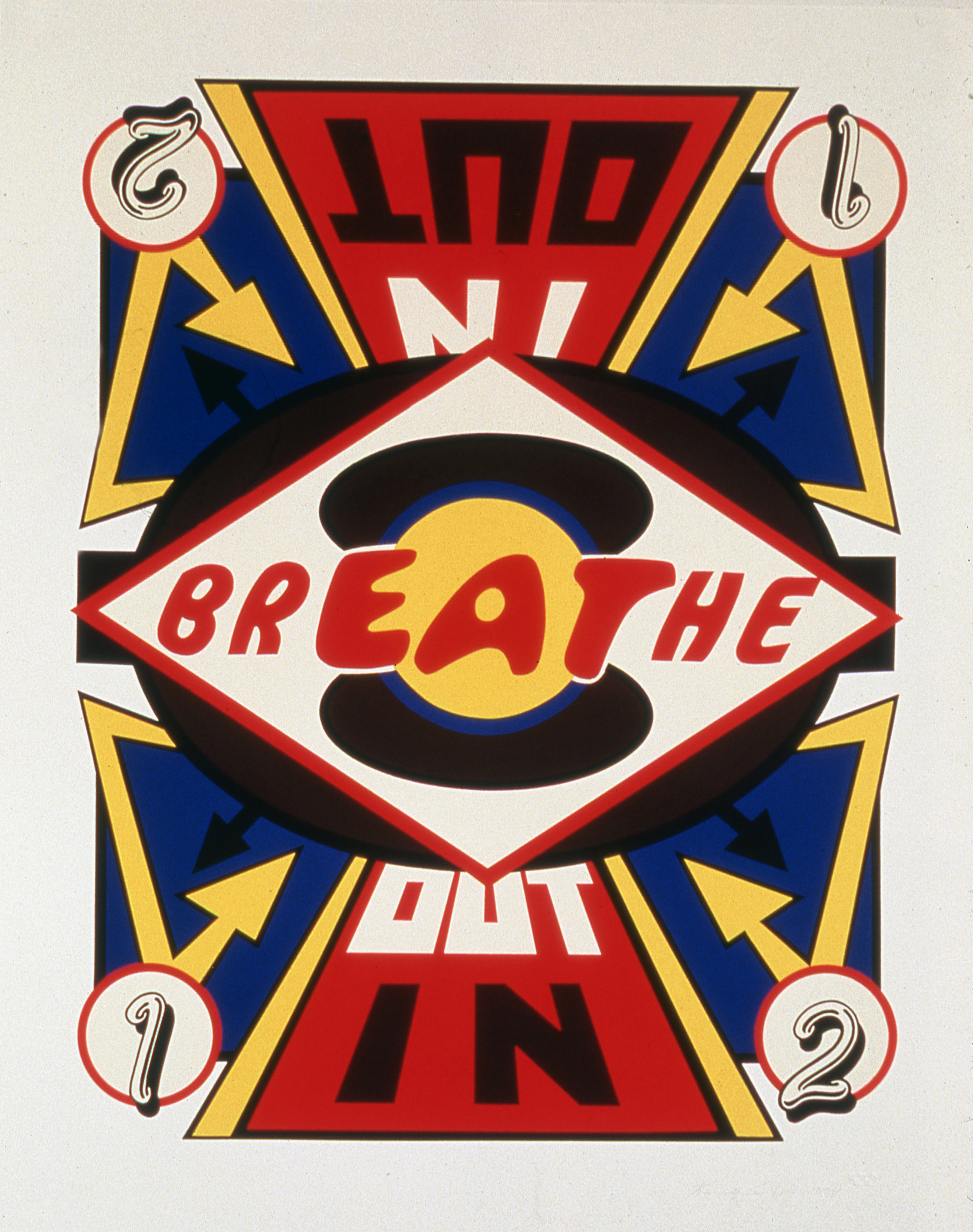 "Breathe,  1994  Silkscreen on paper, edition of 15   33"" x 26"""