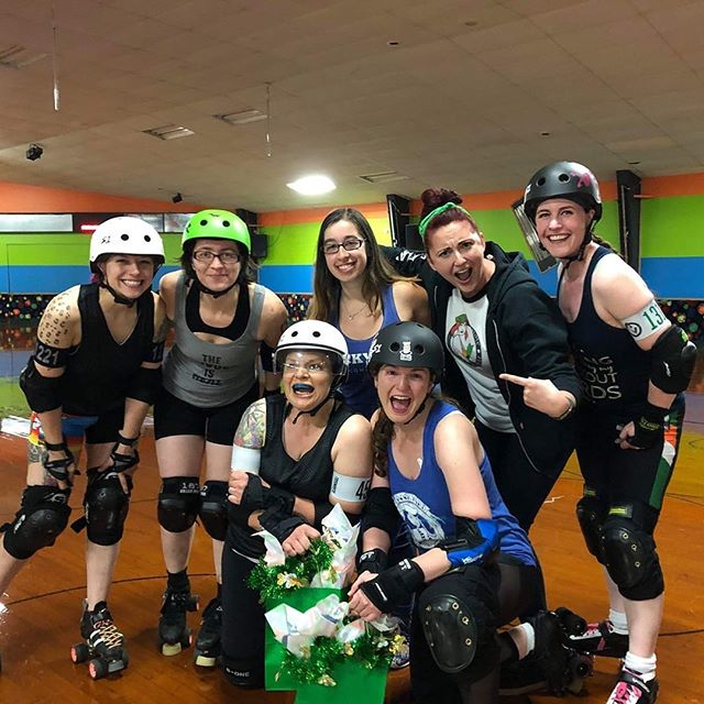 It's been a few days since I was drafted to @femme_fianna of @dockyardderbydames, but I'm still dazed and amazed that it happened. SO excited to skate with and learn from my new green family! 💚🍀💚 . . . #dydd #rollerderby #rollerderbygirls #rollerderbylife #fyff