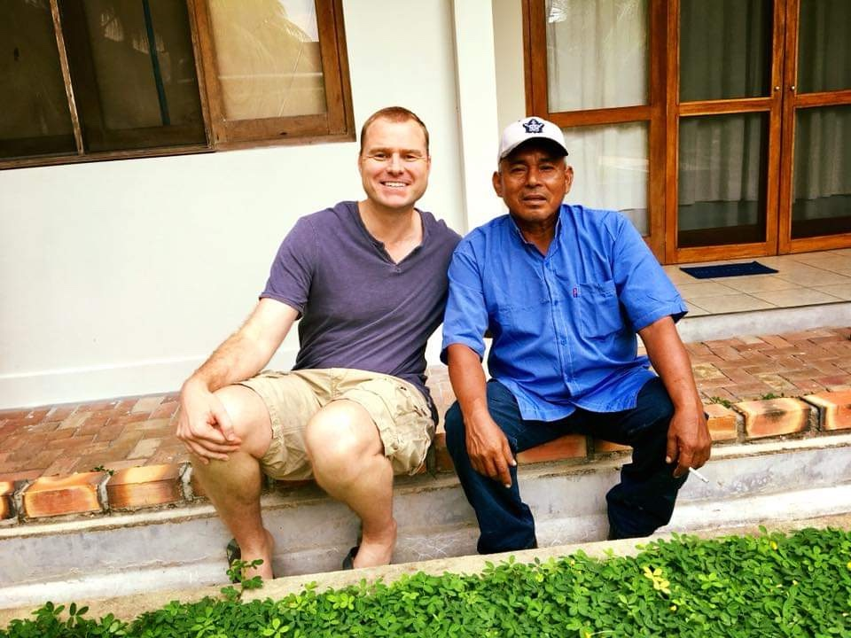 Hamilton with his Maestro teacher in Peru