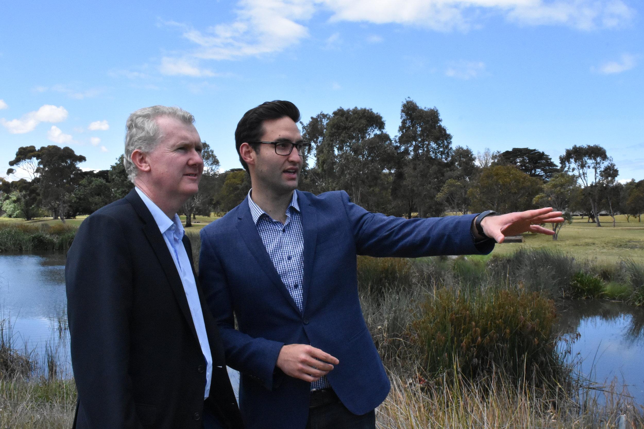 Tony Burke and Josh Burns, Labor Candidate for Macnamara