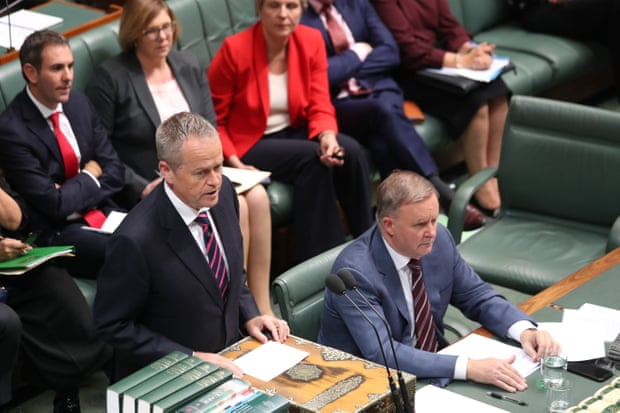 Bill Shorten back at the despatch box, pursuing the Government over the robodebt mess - Mike Bowers / Guardian
