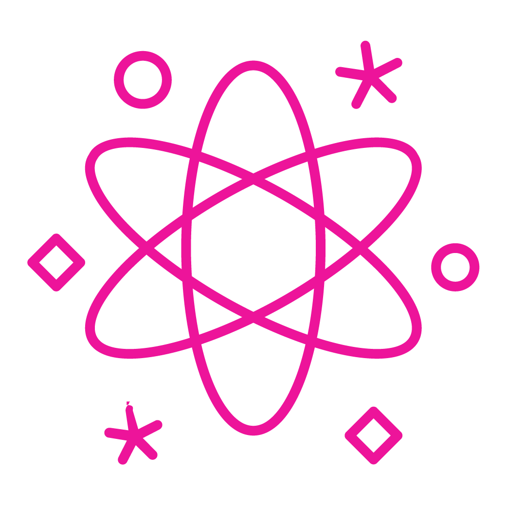 Icon depicting an atom