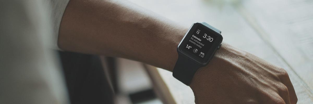 Man's arm with Apple Watch on wrist