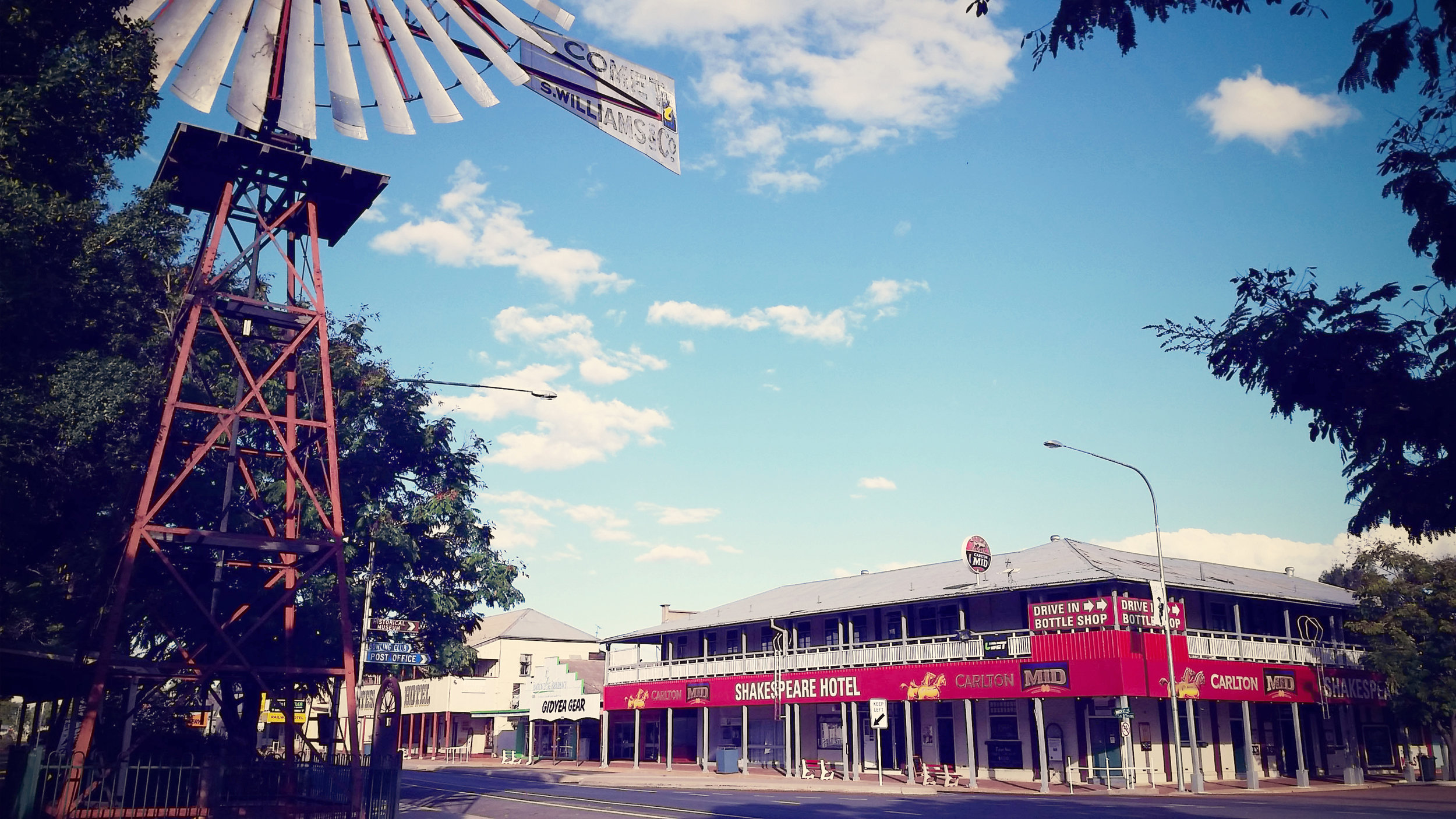 Barcaldine- the home of the Australian Labour movement. It also has an impressive high pub to population ratio. Not sure if the two facts are related.