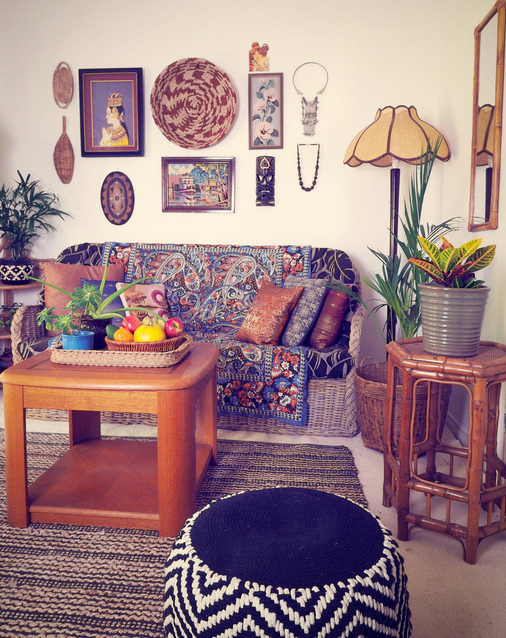eclectic home styling on a budget