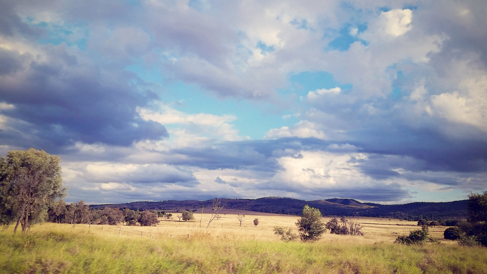 Dramatic colours on the Capricorn Highway