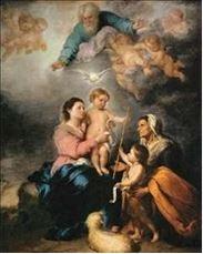 """The Holy Family""-  Bartholome Esteban Murillo"