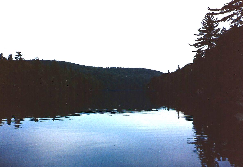 Sunset paddle back to camp.