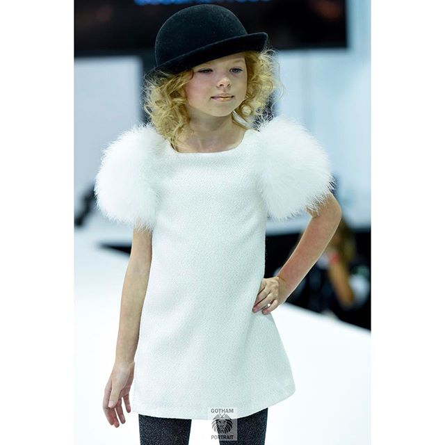 Model Valerie @valeries.alexa is a knockout modeling for @charabia_paris at @petiteparade taken for @hooligansmagazine #charabiaparis #kidsphotography #hooligans #runwayphotographer