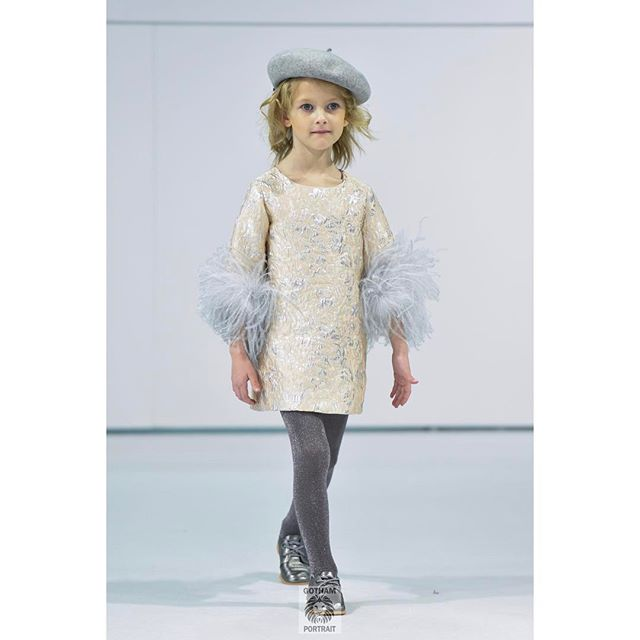 Model Emmery in a beautiful outfit walking for @charabia_paris at @petiteparade taken for @hooligansmagazine #charabiaparis #kidsphotography #hooligans #runwayphotographer