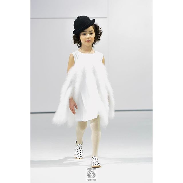 Model Lily looks perfect walking for @charabia_paris #petiteparade  #charabiaparis #kidsphotography #runwayphotographer