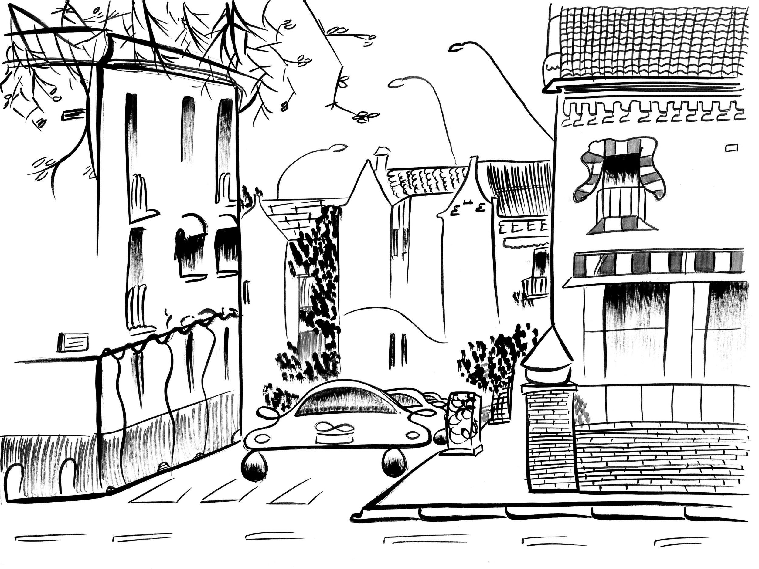 Streets in Sevilla neighborhood