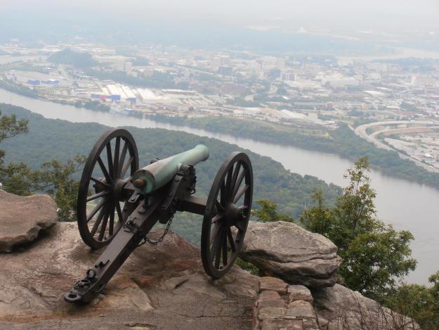"""Lookout Mountain. This was the last of the 27 civil war sites in 3 weeks. A spectacular view despite the cannon in the way!"" - Allan Manser"