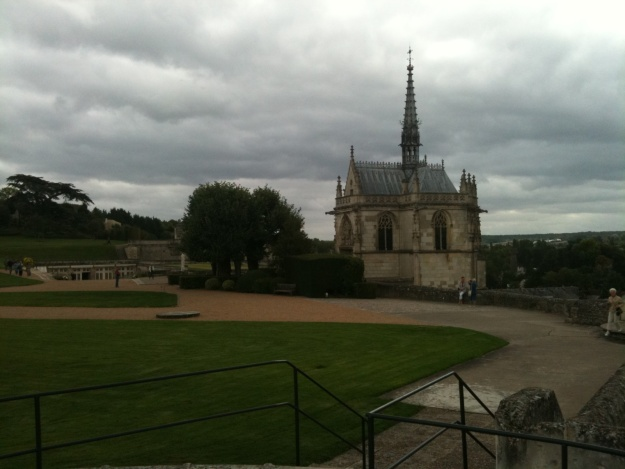 """Leonardo Da Vinci's tomb in the grounds of Francis 1 Chateau Amboise, Loire Valley (France)"". - Malcolm & Gillian Lawes"""