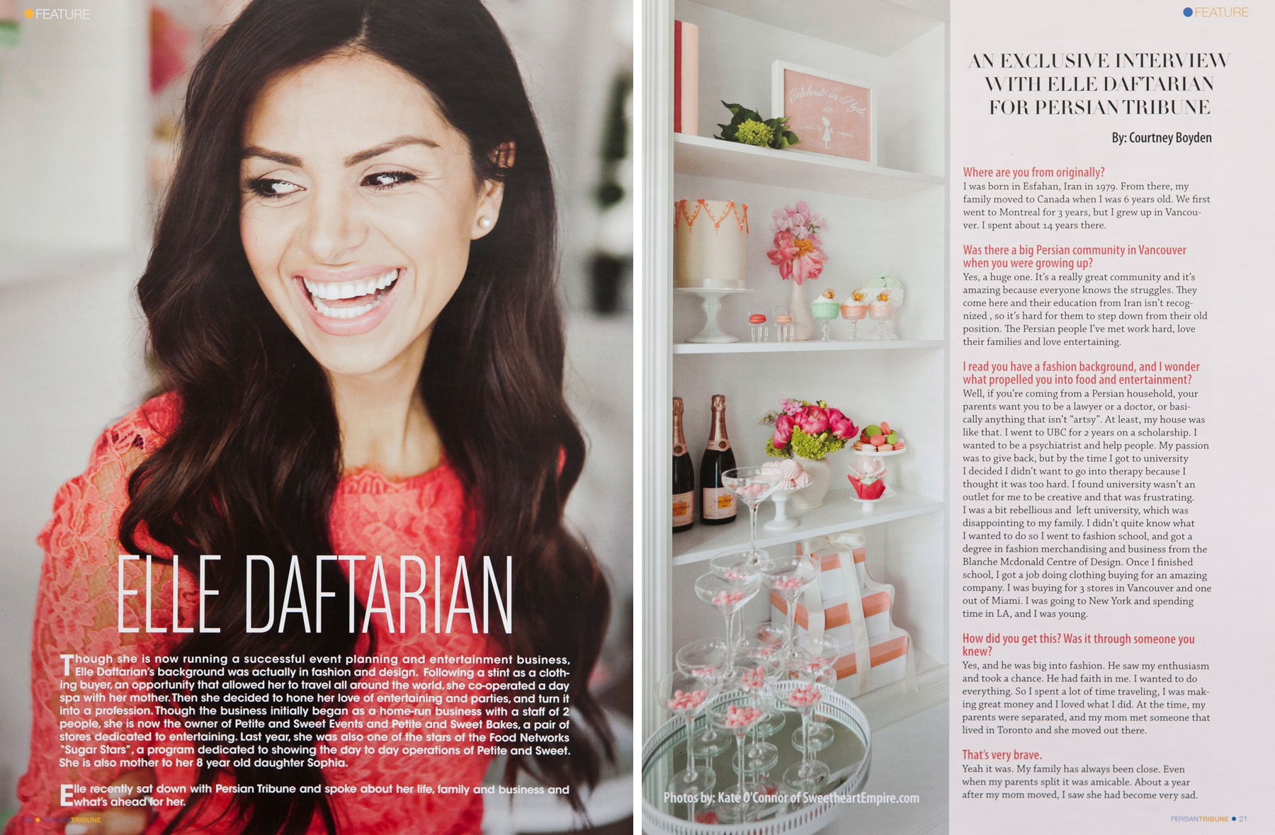 Elle Daftarian in Persian Tribune