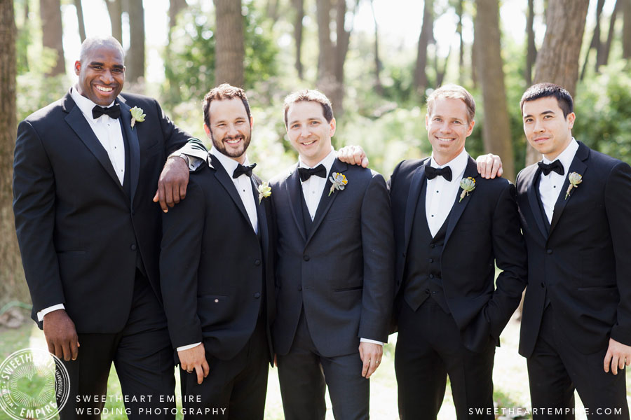 Cherry Beach Wedding Photo of Groomsmen