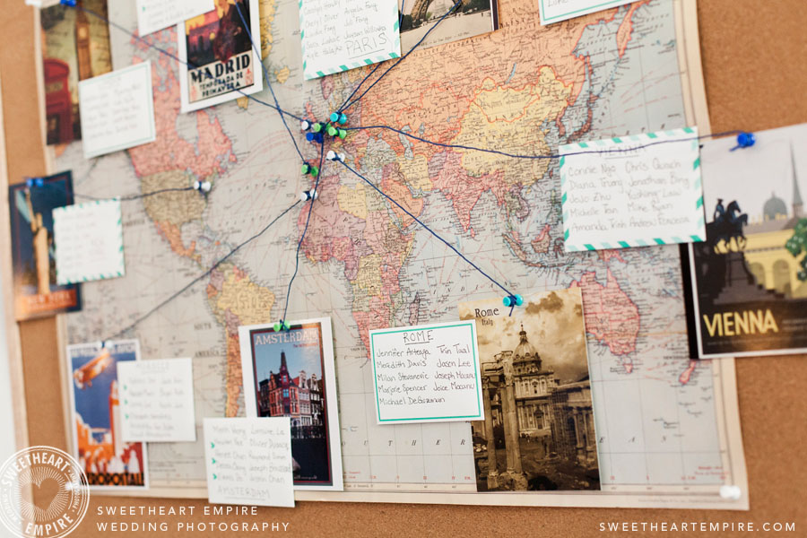 Wedding Guest Seating Chart World Map
