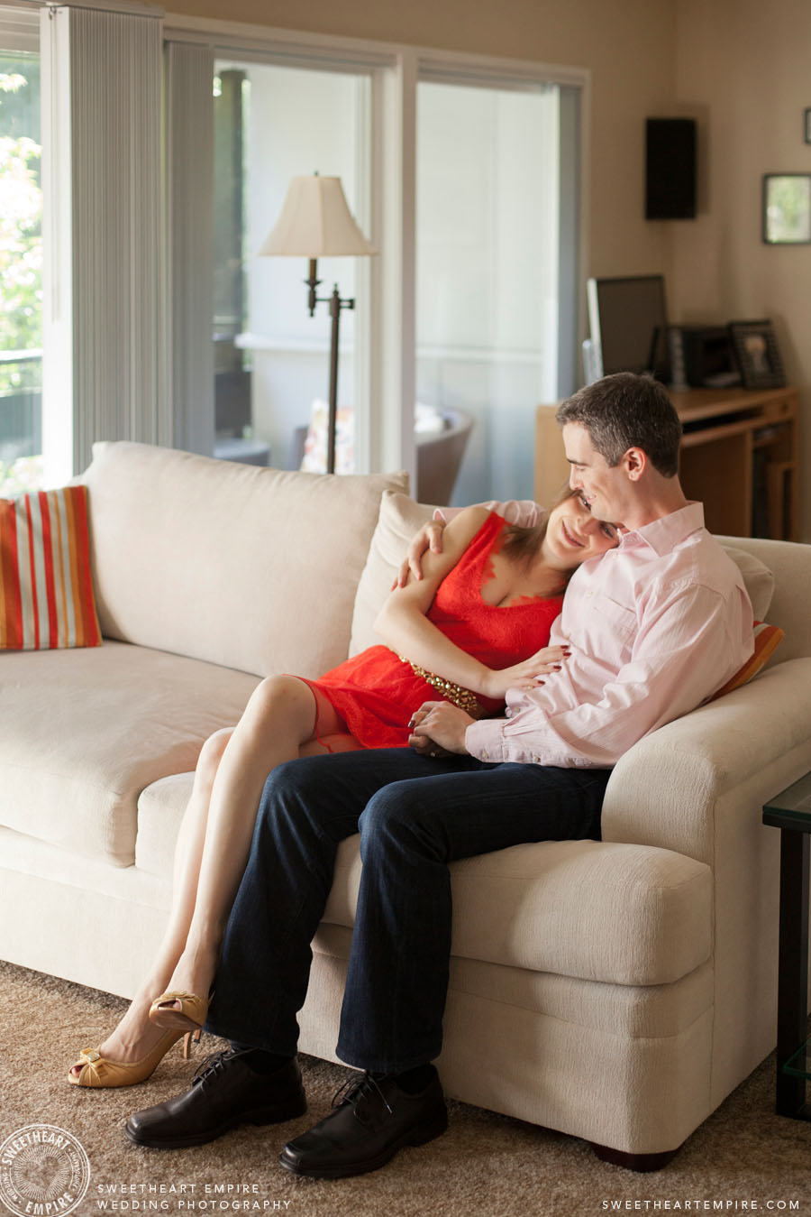 Couples photography at home