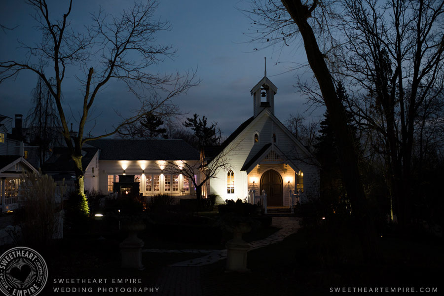 The Doctor's House Chapel at night